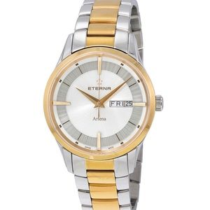 Eterna Artena Unisex White Dial Two-tone Watch